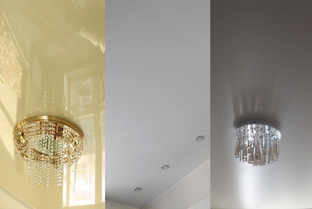матовый, глянцевый или сатиновый натяжной потолок