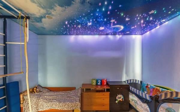 потолок звёздное небо в детской комнате