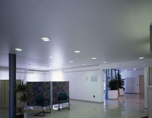 потолок металлик в офисе