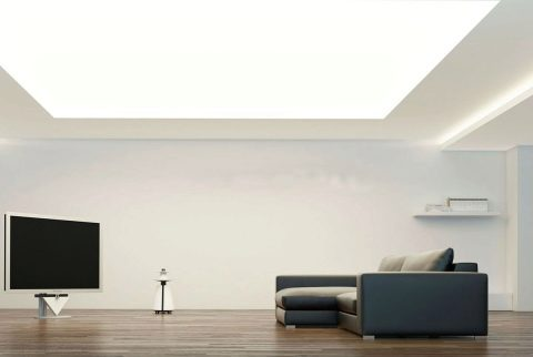 светящийся натяжной потолок белый