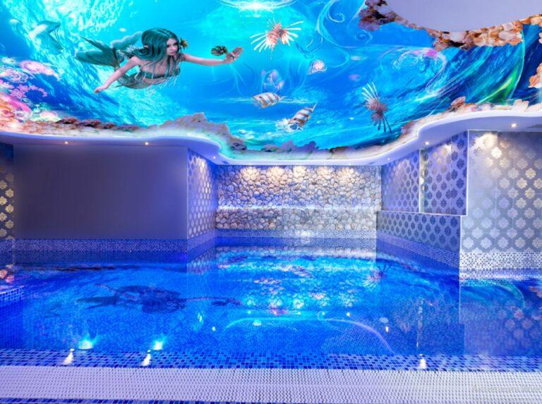 какой потолок установить в бассейне