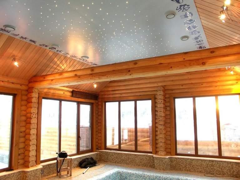 натяжной потолок звёздное небо в частном доме