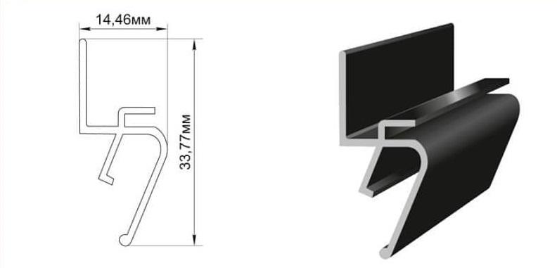 теневой профиль для натяжных потолков